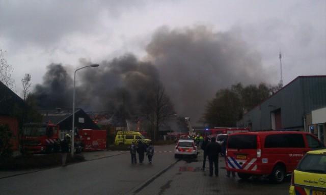 Grote brand aan Noorderbaan