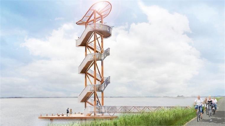 Uitkijktoren op losse schroeven