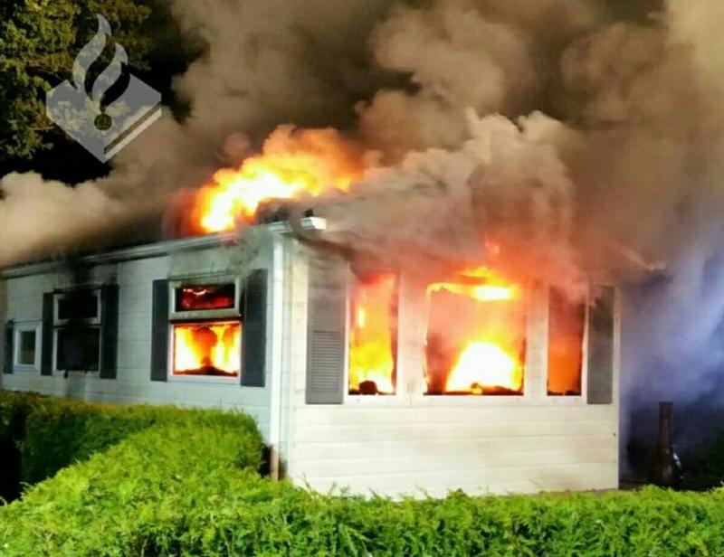 Chalet bij De Klink volledig uitgebrand