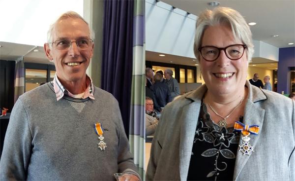 Mart Muller en Lenie Christiaanse koninklijk onderscheiden