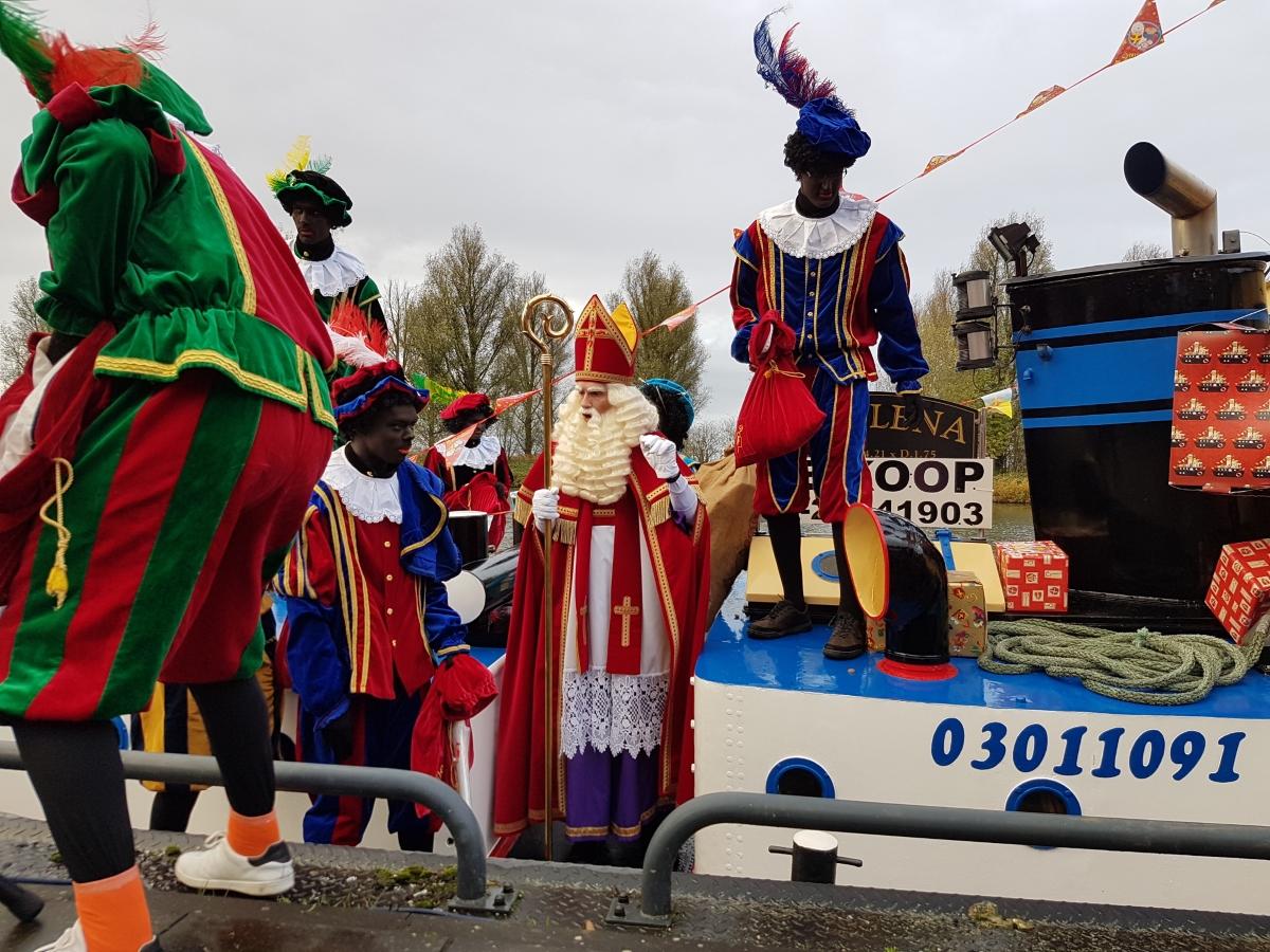 Sinterklaas aangekomen in Biddinghuizen