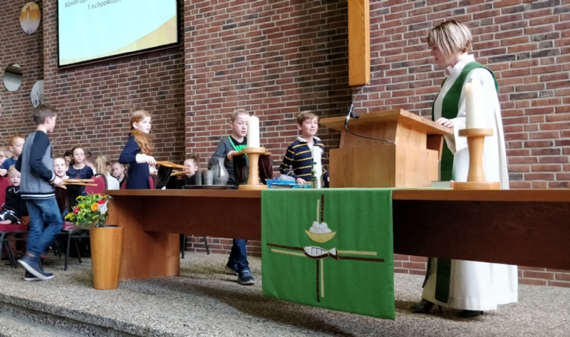 Schoolkerkdienst Tamarisk goed bezocht