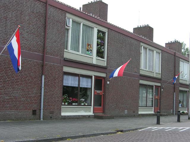 De vlag uit voor Ria