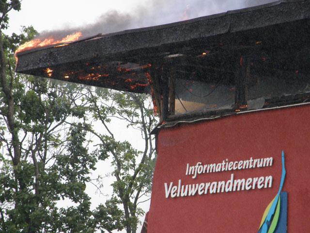 Infocentrum blijft dit jaar dicht na brand