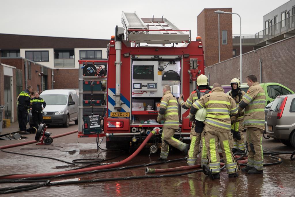 Demo brandweer en springkussen bij Serious Dorpsfestival