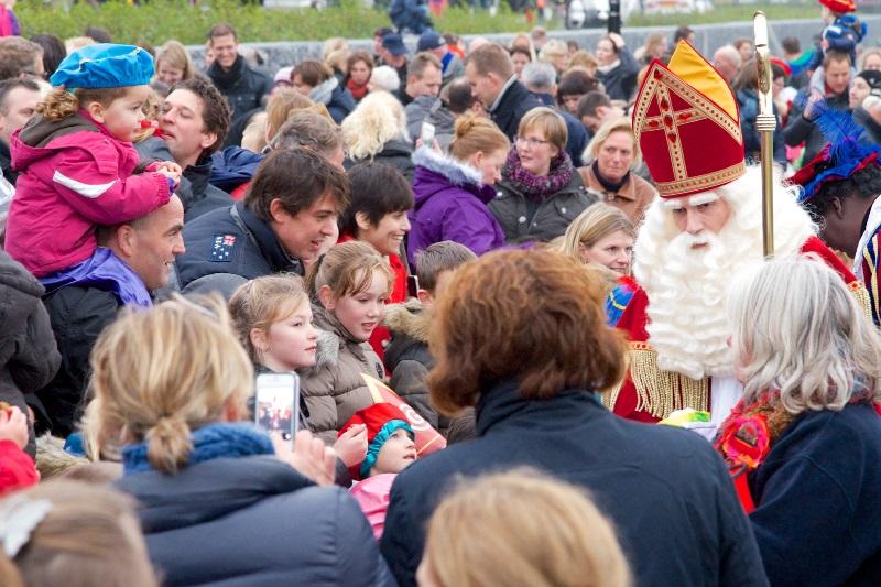 Sinterklaas komt aan in Biddinghuizen