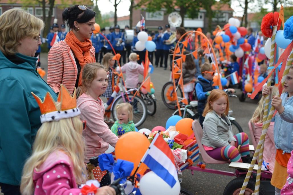 Route versierde fietsoptocht Koningsdag