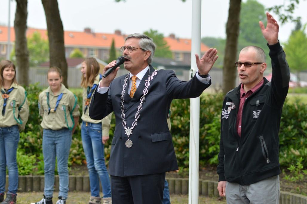 Veteranen aanwezig op koningsdag