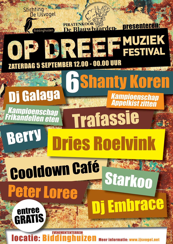 Programma Op Dreef muziek-festival