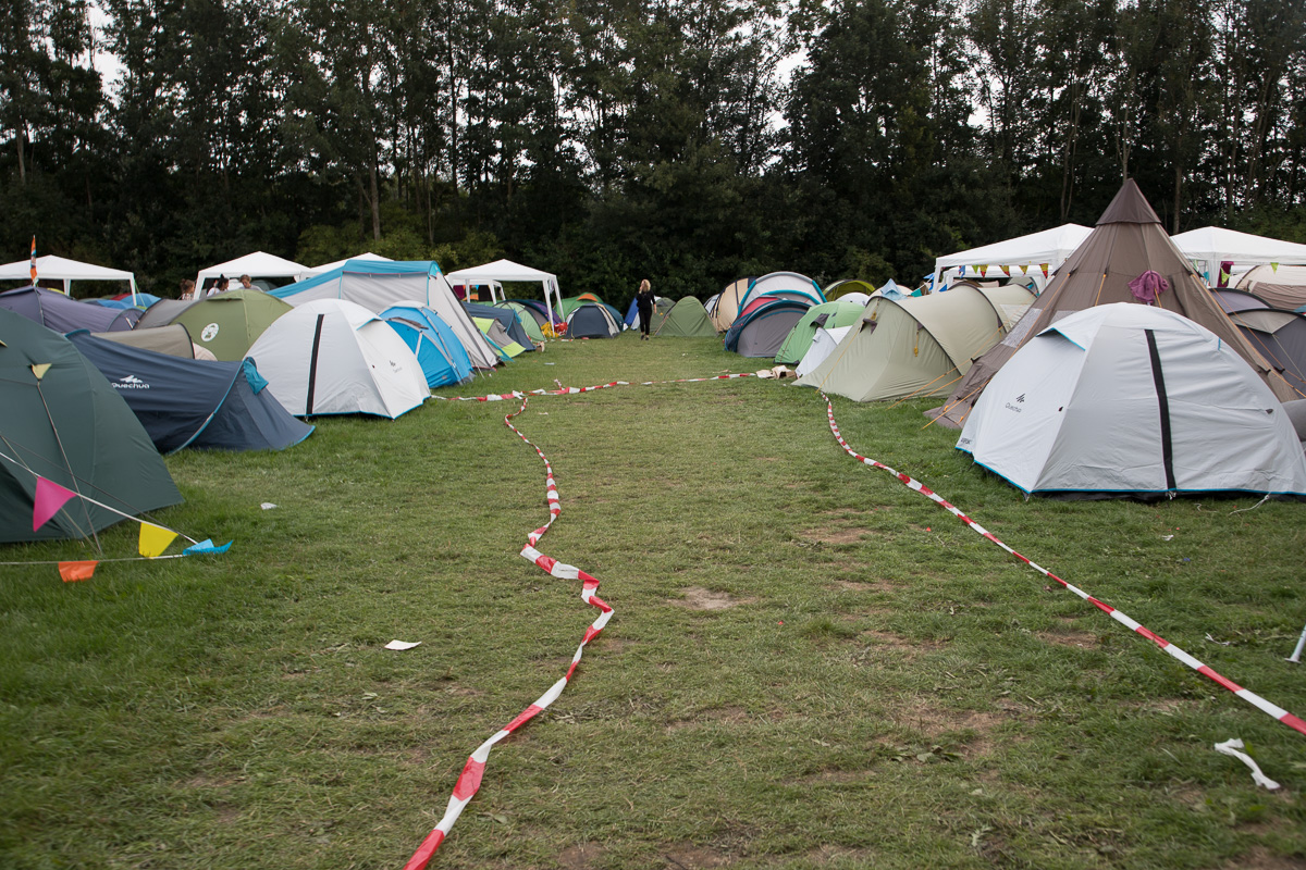 Lowlandsdirecteur over camping F1: