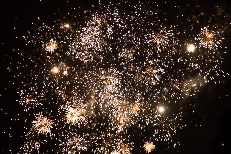 Vuurwerkshow bij Flevonice