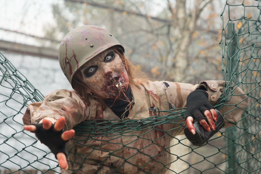 Obstacle Run met zombies bij Flevonice