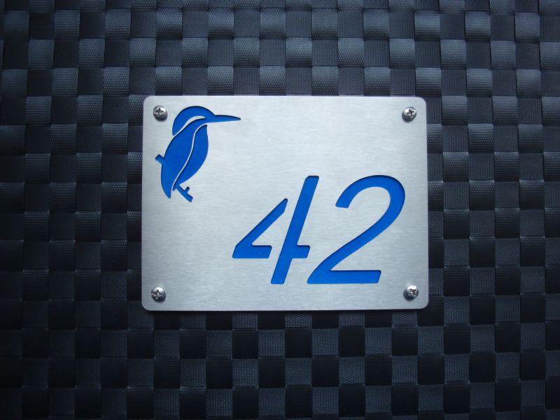 Huisnummerbordjes met IJsvogel te bestellen