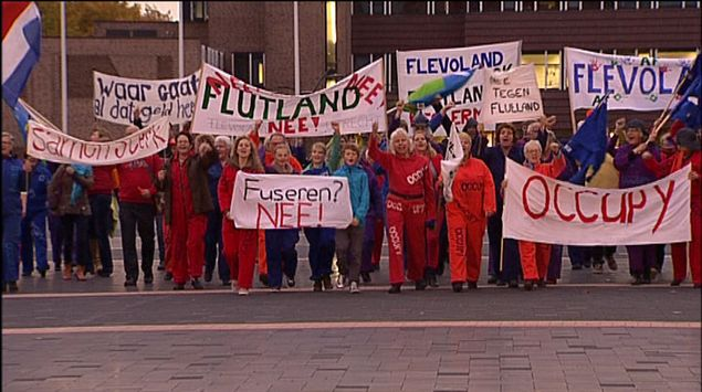 Protest tegen Flutland onderdeel musical