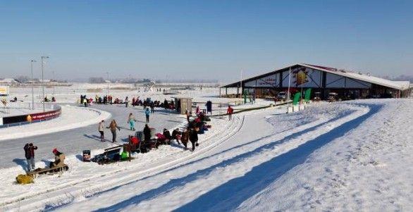 Eerste schaatstoertocht van het seizoen bij Flevonice