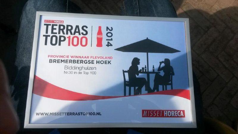 Bremerbergse Hoek beste terras van Flevoland