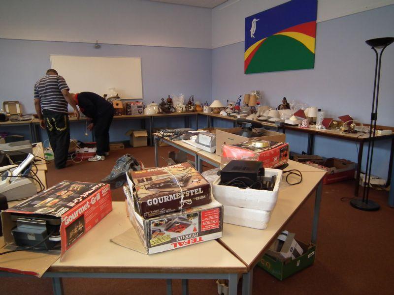 Inzameling spullen goederenmarkt