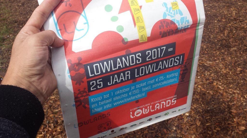 Lowlands verkoopt bijna uit, kaartverkoop 2017 gestart