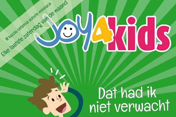 Eerste Joy4Kids van 2017 met band en toneelstuk