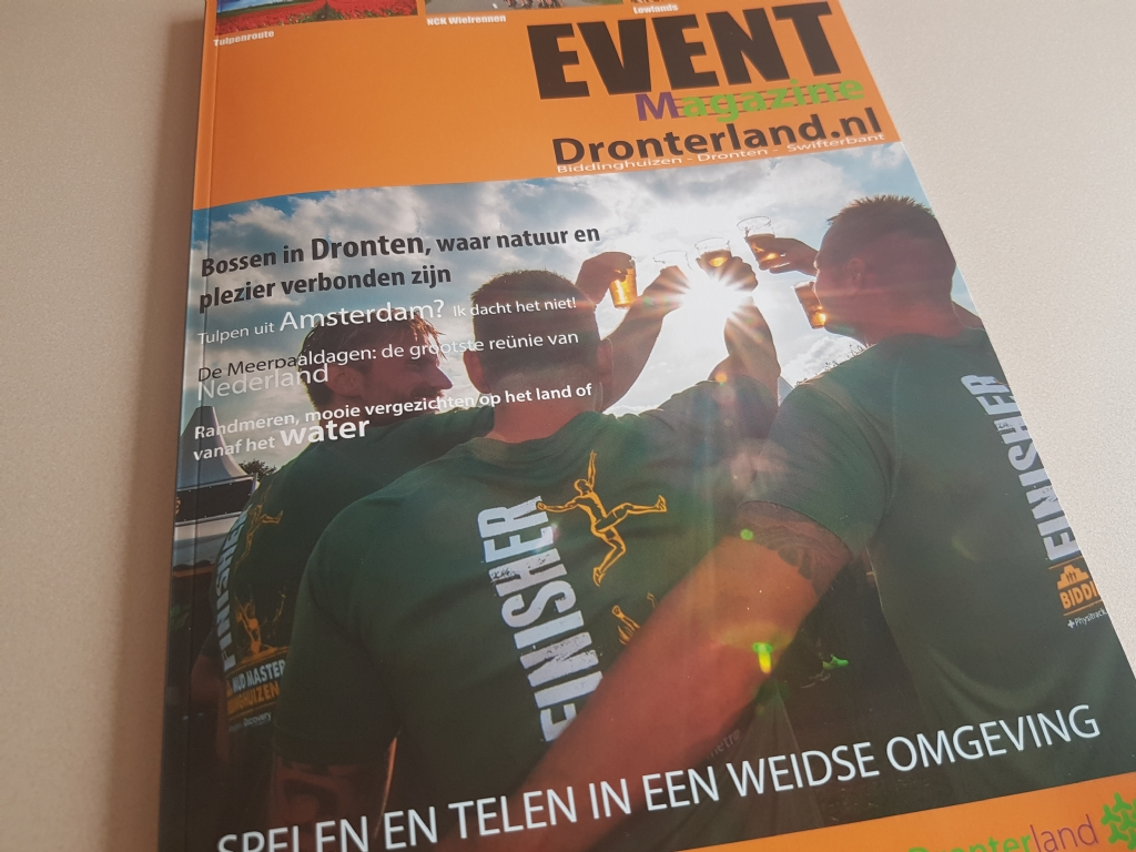 Eventmagazine over evenementen in gemeente
