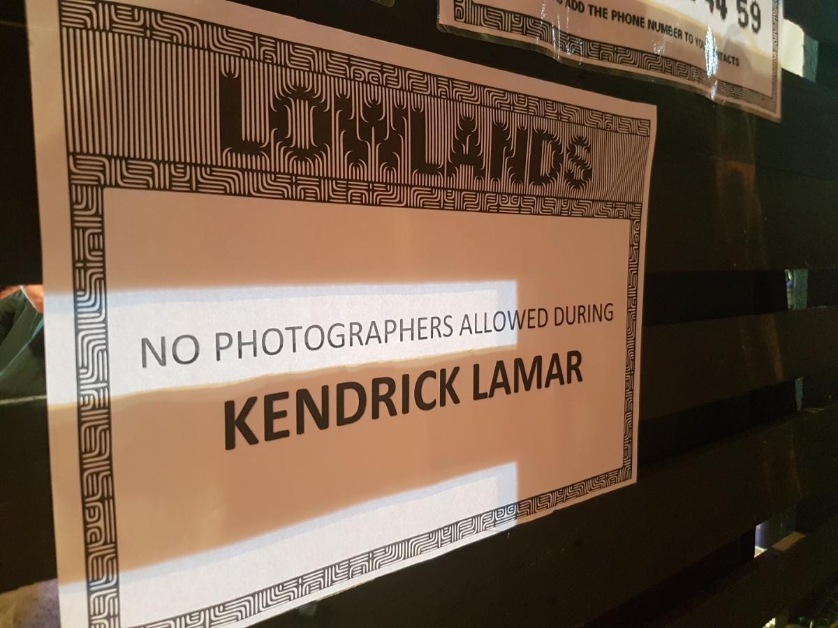 Geen fotografen bij Kendrick Lamar
