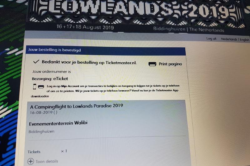 Voorverkoop Lowlands gestart