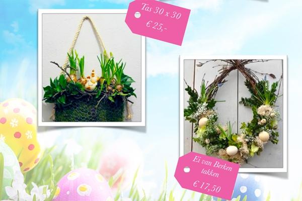 Paasworkshops met bloemen en natuurlijke materialen
