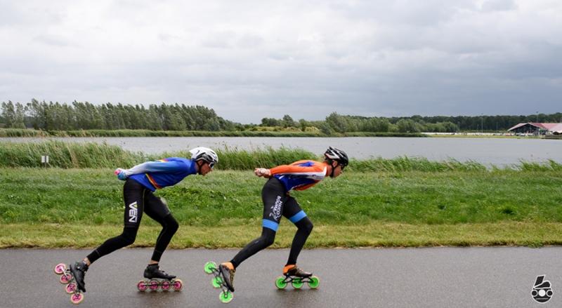 150 deelnemers op skates trotseren wind
