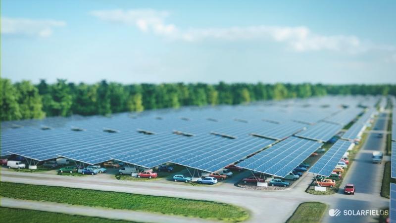 Grootste solar carport ter wereld verrijst in Biddinghuizen